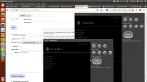 RabbitMQ android chat app